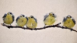 Artist: The Singing Crafter<br>Title: Waiting For Mum<br>Medium: Needle Felting
