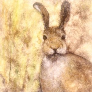 Artist: The Singing Crafter<br>Title: Young Hare<br>Medium: Needle Felting