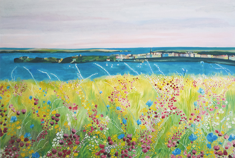 Artist: Catherine Bhogal<br>Title: Tenby Colours<br>Medium: Print of Oil Painting