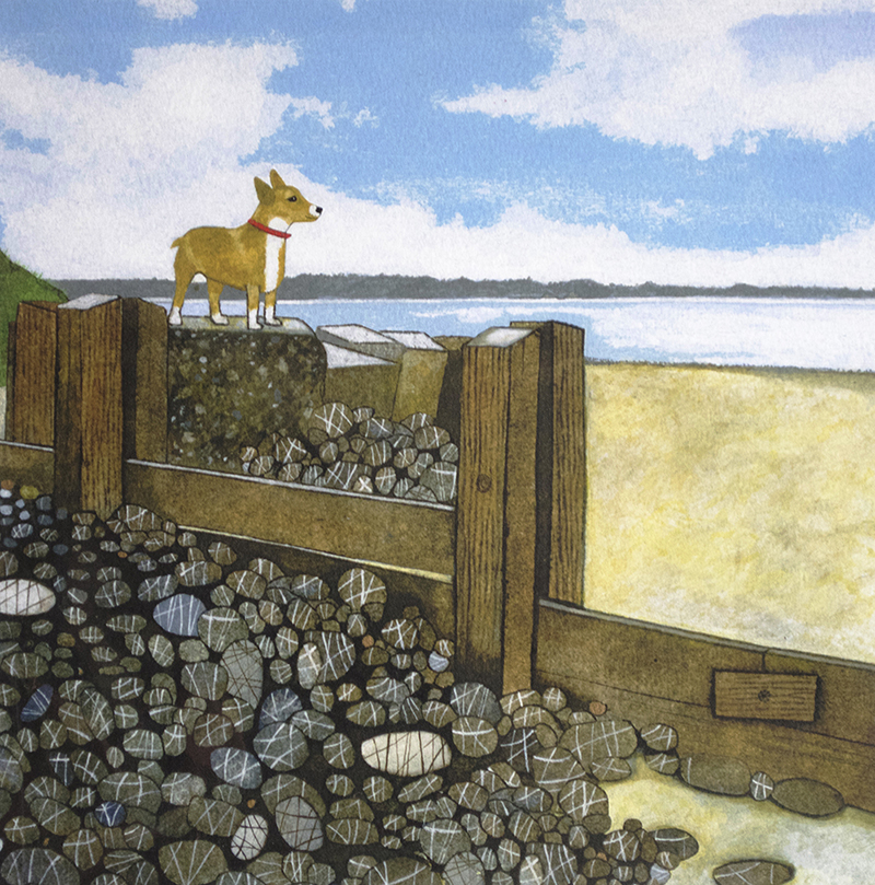 Artist: Chris Davis<br>Title: Bay Watch<br>Medium: Print