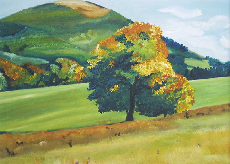 Artist: Catherine Bhogal<br>Title: A New Season Welcome<br>Medium: Print of Oil Painting