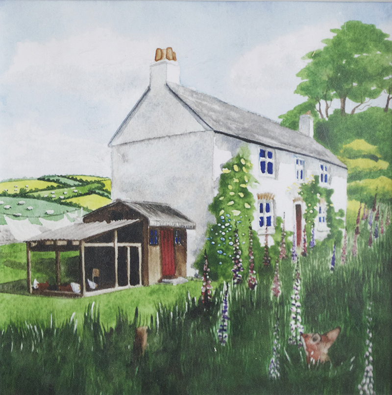 Artist: Beth Giles<br>Title: Summer Farmhouse<br>Medium: Print of Watercolour
