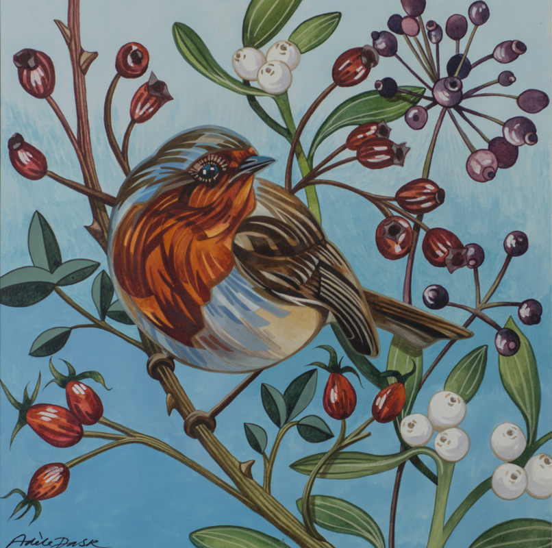 Artist: Adele Pask<br>Title: Robin<br>Medium: Print of Acrylic Painting