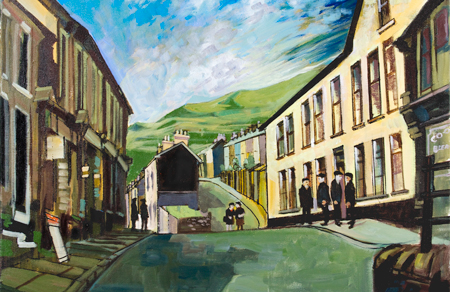 Artist: Elwyn Thomas<br>Title: Blaenllechau in the sun<br>Medium: Giclée Print