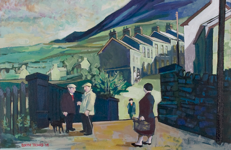 Artist: Elwyn Thomas<br>Title: Llanwonno Road, Pontygwaith<br>Medium: Giclée Print