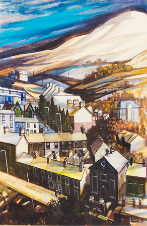 Artist: Elwyn Thomas<br>Title: Wattstown, Winter<br>Medium: Giclée Print