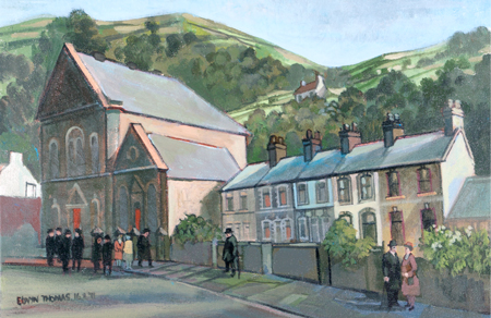 Artist: Elwyn Thomas<br>Title: Chapel Row<br>Medium: Giclée Print