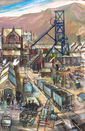 Artist: Elwyn Thomas<br>Title: Colliery 1<br>Medium: Giclée Print