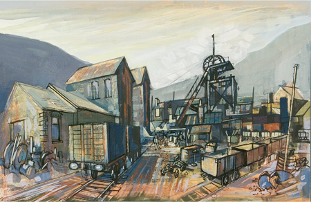 Artist: Elwyn Thomas<br>Title: Colliery 2<br>Medium: Giclée Print