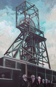 Artist: Elwyn Thomas<br>Title: Maerdy Pit Head<br>Medium: Giclée Print